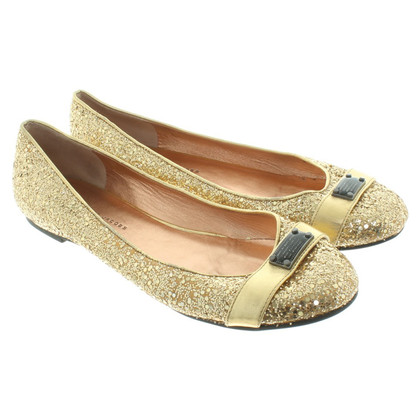 Marc Jacobs Ballerina's in goud
