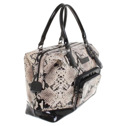Longchamp Handtasche in Schwarz/Weiß