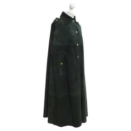 Céline Leather cape in green