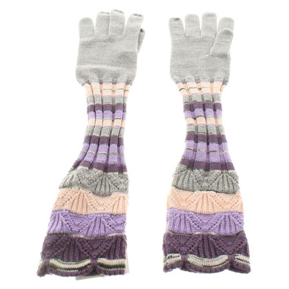 Missoni Gloves in grey / violet
