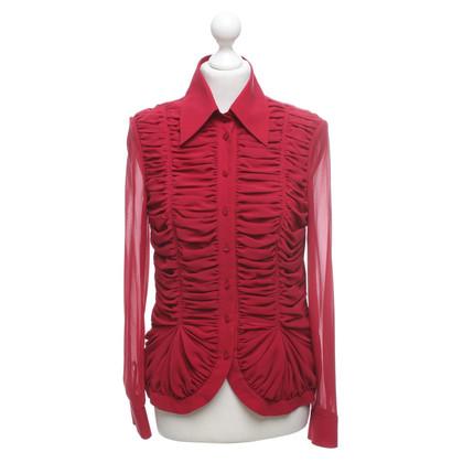Escada Silk blouse in red