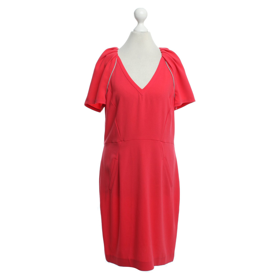 Maje Dress in coral red