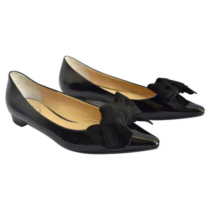 Unützer Black patent leather ballerinas