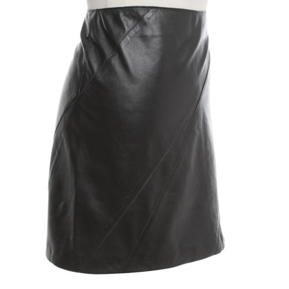 Moschino Leather skirt in black