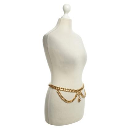 Chanel oro cintura di catena a maglia colorato