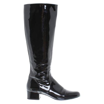 Saint Laurent Patent leather boots in black
