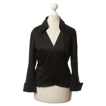 Escada Wikkel blouse in zwart