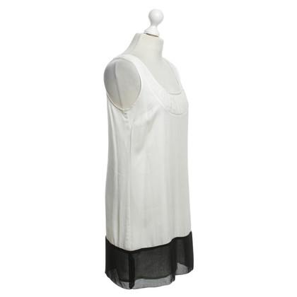 Reiss Kleid in Weiß/Schwarz