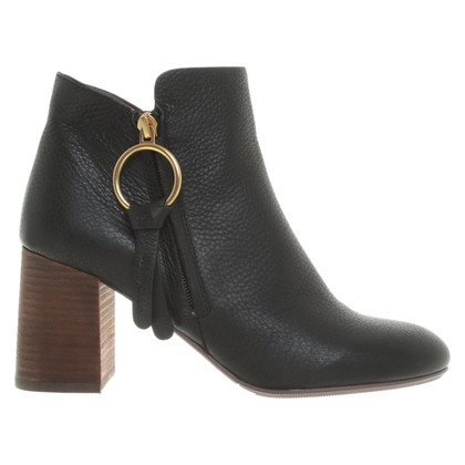 See by Chloé Black ankle boots