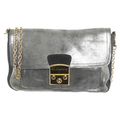 Paul & Joe Suede bag with metallic coating