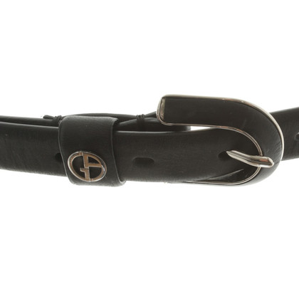 Armani Leather Belt in zwart