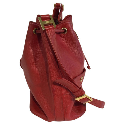 MCM Bucket bag in red