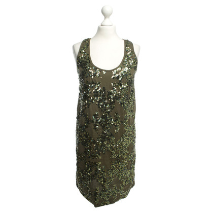 J. Crew Sequin dress in green