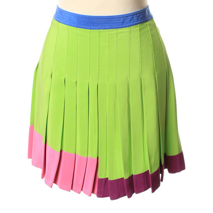 Gianni Versace Silk pleated skirt