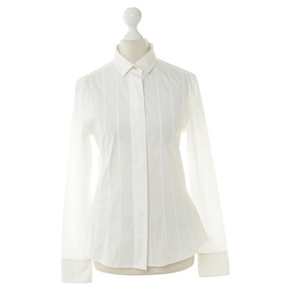 Akris Blouse in off white with tuck
