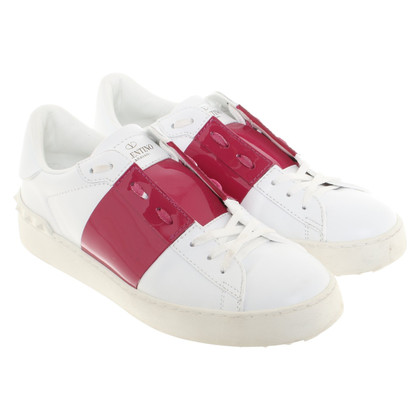 Valentino Sneakers in white / Bordeaux