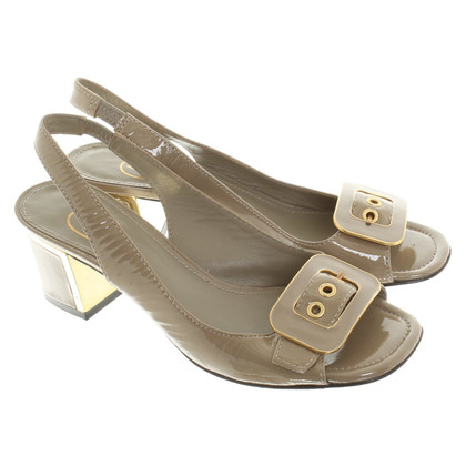 Ash Slingbacks in Khaki