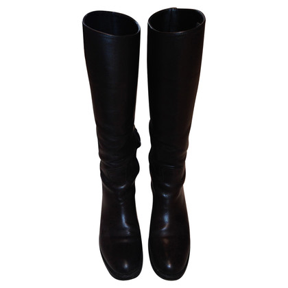 Prada Dark brown leather boots