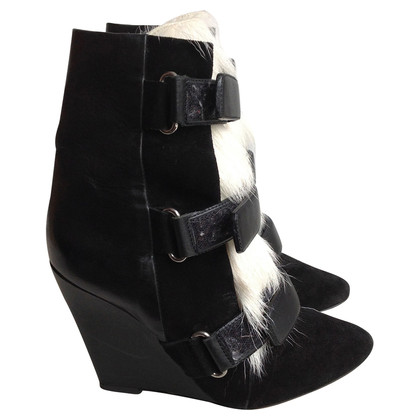 Isabel Marant Wedge heel black/white