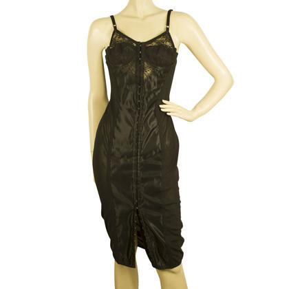 Dolce & Gabbana Schwarzes Bustier-Kleid