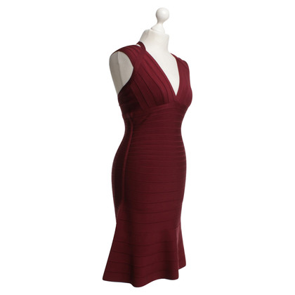 Hervé Léger Dress in dark red