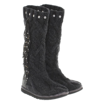 UGG & Jimmy Choo Grey knit boots