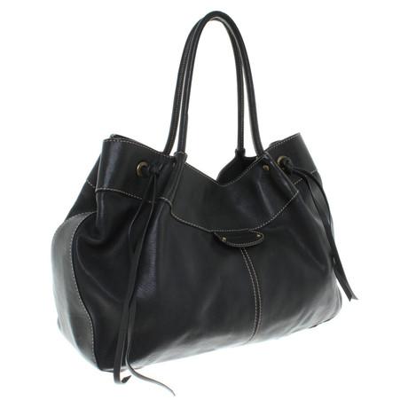 Coccinelle Lederhandtasche in Schwarz Schwarz Billig Verkauf Heißen Verkauf IB14hzs9T6