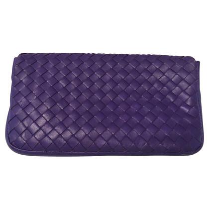 Bottega Veneta clutch purple