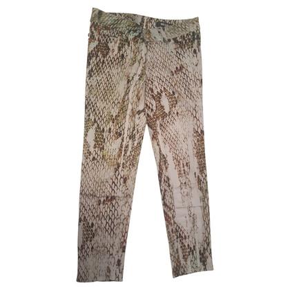 Just Cavalli 3/4 pantaloni con modello rettile