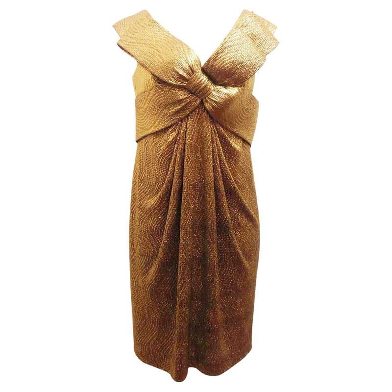 Marchesa Lamé dress