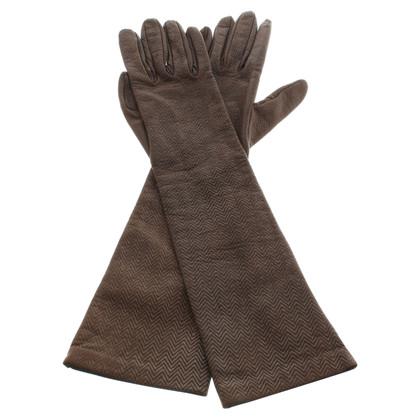 Dolce & Gabbana Handschoenen in bruin / zilver