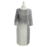 Hugo Boss Kleid in Schwarz/ Weiß