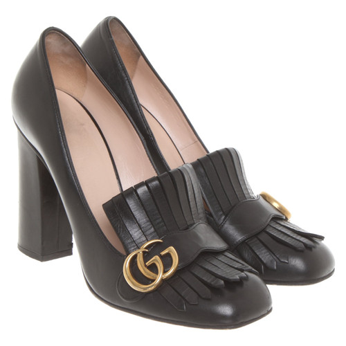 2ba463e29f Gucci Pumps/Peeptoes Leather in Black - Second Hand Gucci Pumps ...