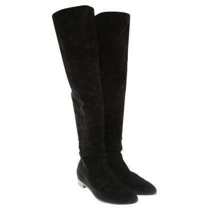 Prada Overkneel boots from suede