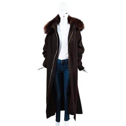 Yohji Yamamoto Vintage coat with fur collar