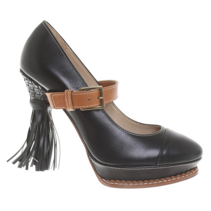 Wunderkind Plateau-Pumps in Schwarz