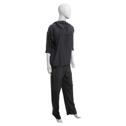 Prada Top & Pantalon en gris foncé