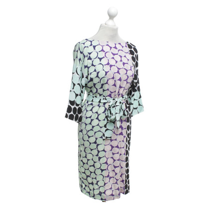 Diane von Furstenberg zijden jurk met puntpatroon