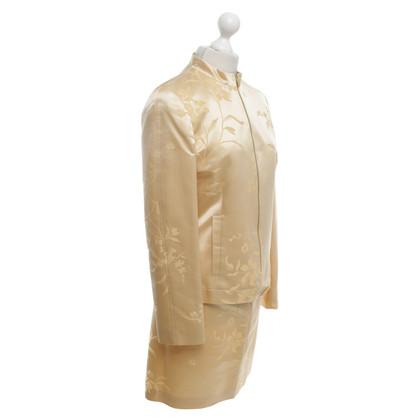 Rena Lange costume di seta jacquard con