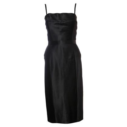 Gucci black satin evening dress