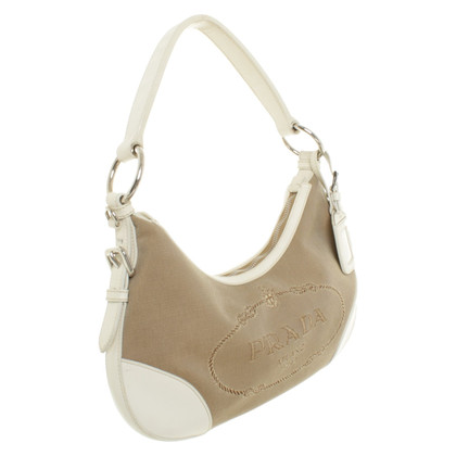 Prada Handbag in beige-white