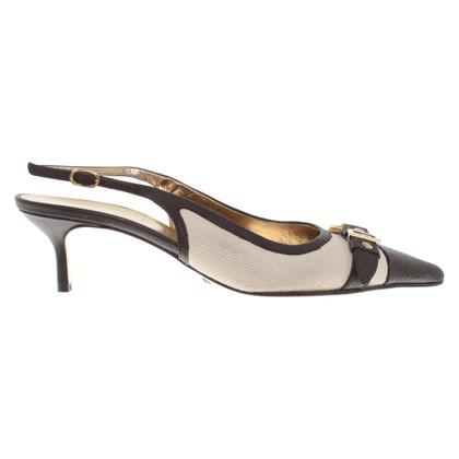 Dolce & Gabbana Slingback-pumps in beige / brown