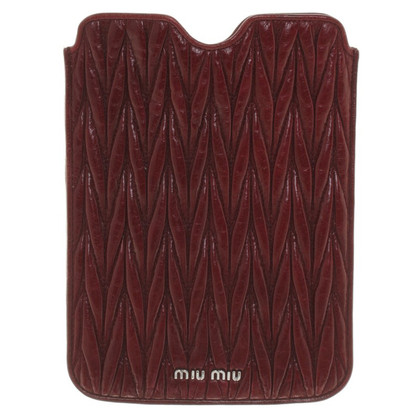 Miu Miu ipad mini schede in Bordeaux