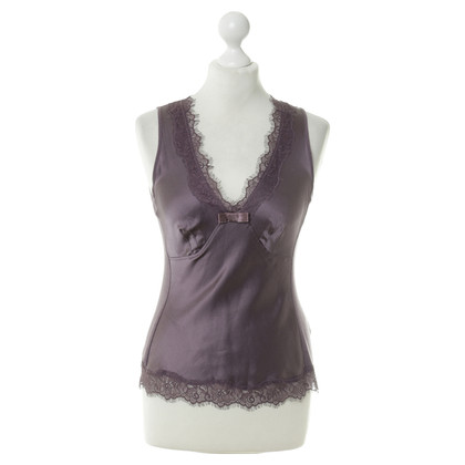 Joe Taft Top in seta viola