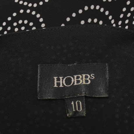 Kleid in Bicolor Gemustertes Schwarz Gemustertes Kleid Hobbs in Hobbs Gemustertes Wei Bicolor Kleid in Wei Schwarz Hobbs Hfpwxq7nR