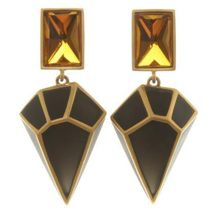 Isharya Boucles d'oreilles en couleurs noir / or