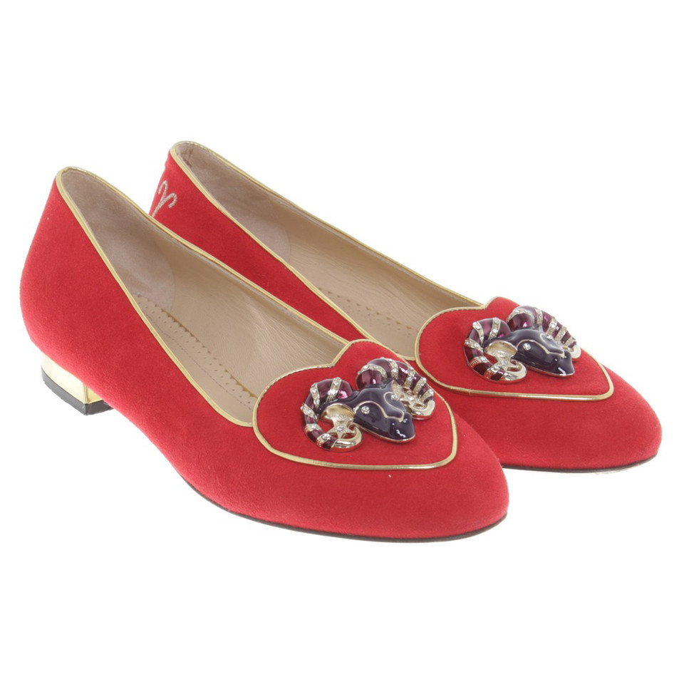 charlotte olympia ballerinas in rot second hand charlotte olympia ballerinas in rot gebraucht. Black Bedroom Furniture Sets. Home Design Ideas
