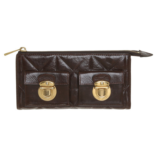 4bac48a4aeea0 Marc Jacobs Portemonnaie in Dunkelbraun - Second Hand Marc Jacobs ...