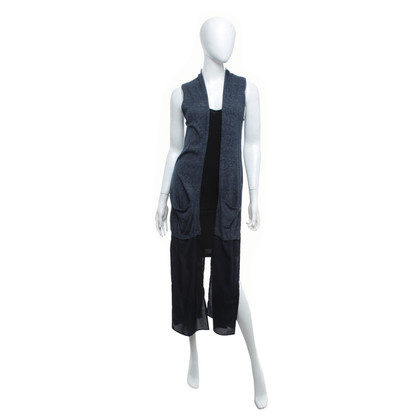 French Connection Gilet lungo in blu