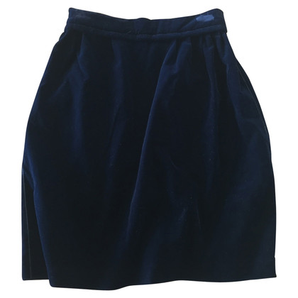 Louis Vuitton Velvet skirt in blue